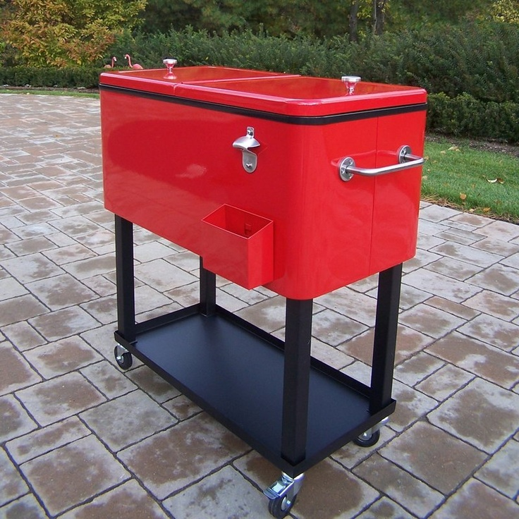 Patio Cooler Cart So Very Retro Cool Seems Like It Would