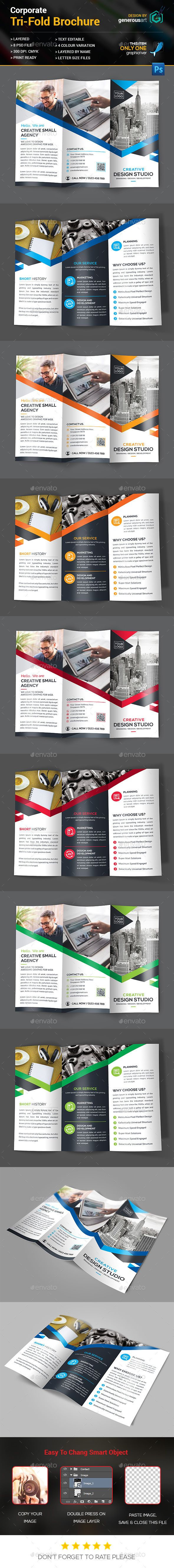 Tri-Fold Brochure Template PSD. Download here: http://graphicriver.net/item/trifold-brochure/14836566?ref=ksioks