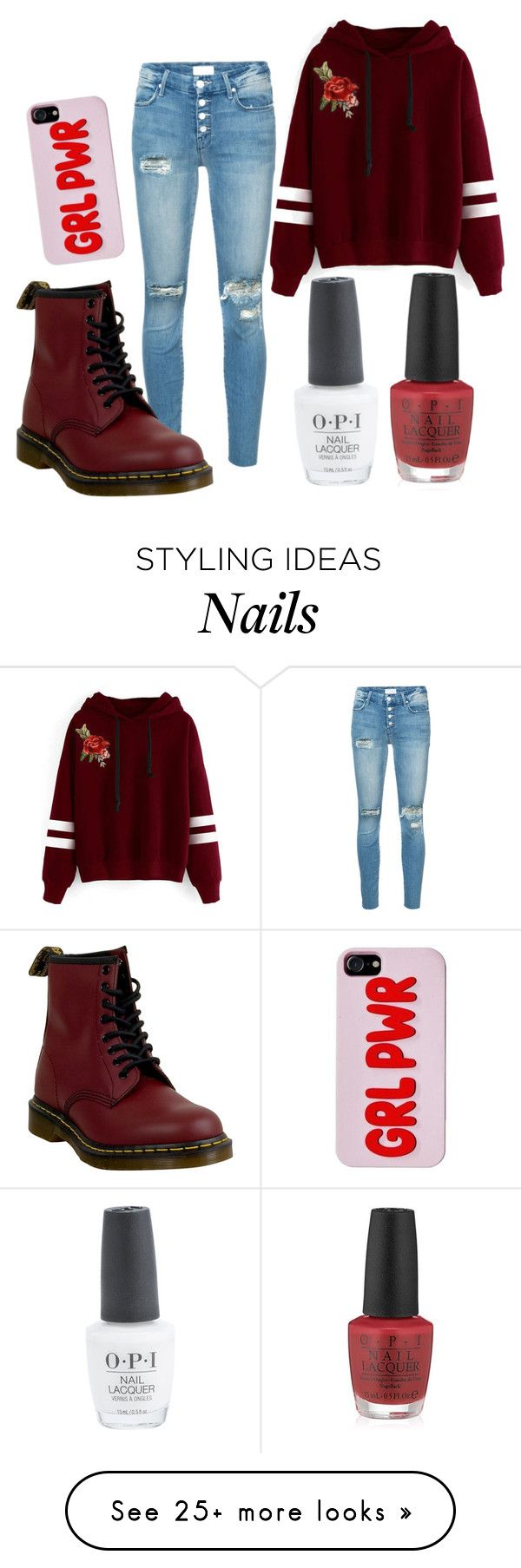 """""""Untitled #574"""" by the-indie-rock-queen on Polyvore featuring Mother, WithChic, OPI and Dr. Martens"""