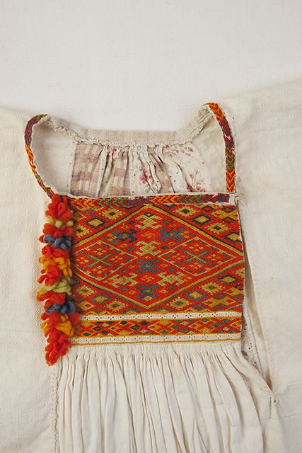 Blouse detail. Embroideries. FolkCostume&Embroidery: Rekko costumes of the Karelian Isthmus and Ingria, former regions of Finland and today national dresses of Finnish Karelian counties
