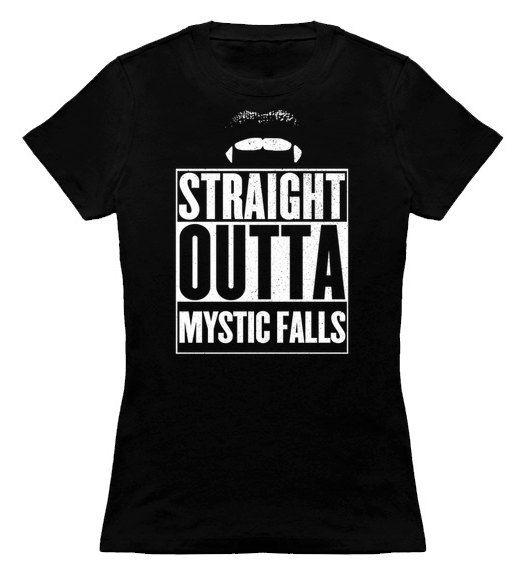 T-shirt Vampire diaries - Mystic Falls