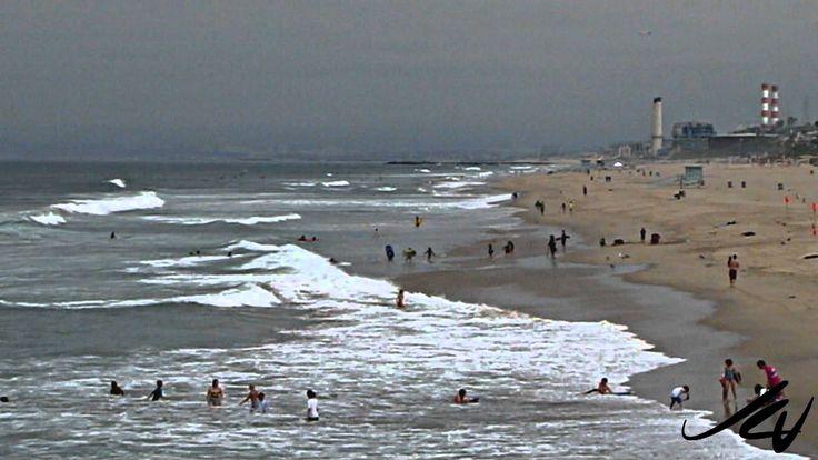 Manhattan Beach, California on a cloudy summer day - YouTube