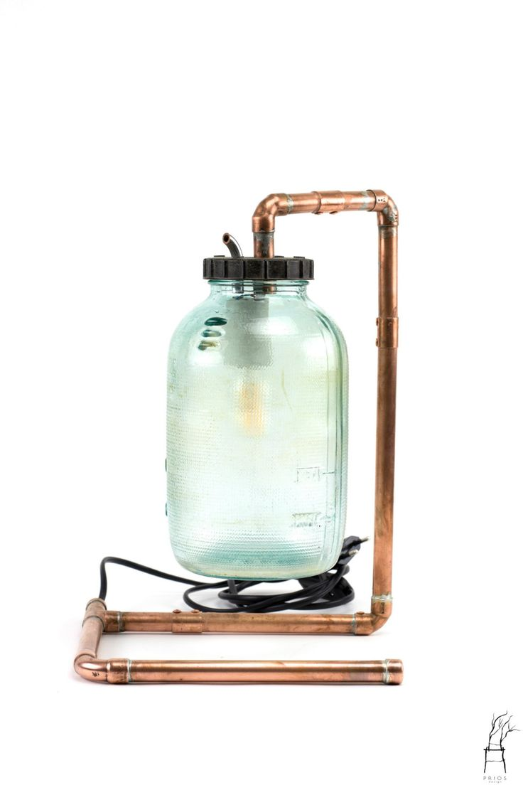 Lamp made from a radiator jar - industrial look by PriosTeam on Etsy