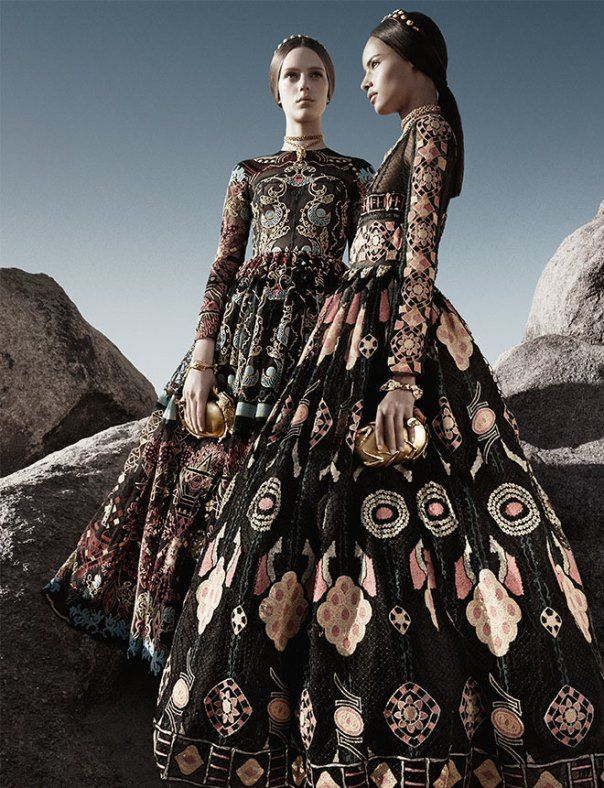 Auguste, Malaika, Ine, Maartje, Esther by Craig McDean for Valentino Spring Summer 2014