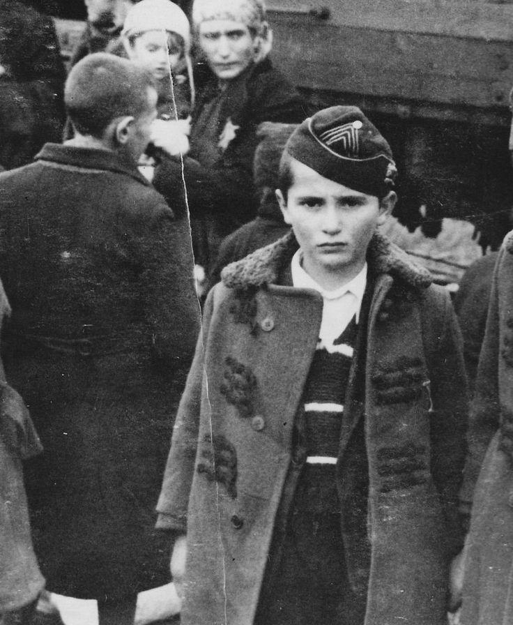 Boy in Auschwitz concentration camp