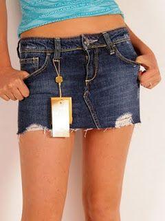 Fashion Corner: Short Jeans Skirt