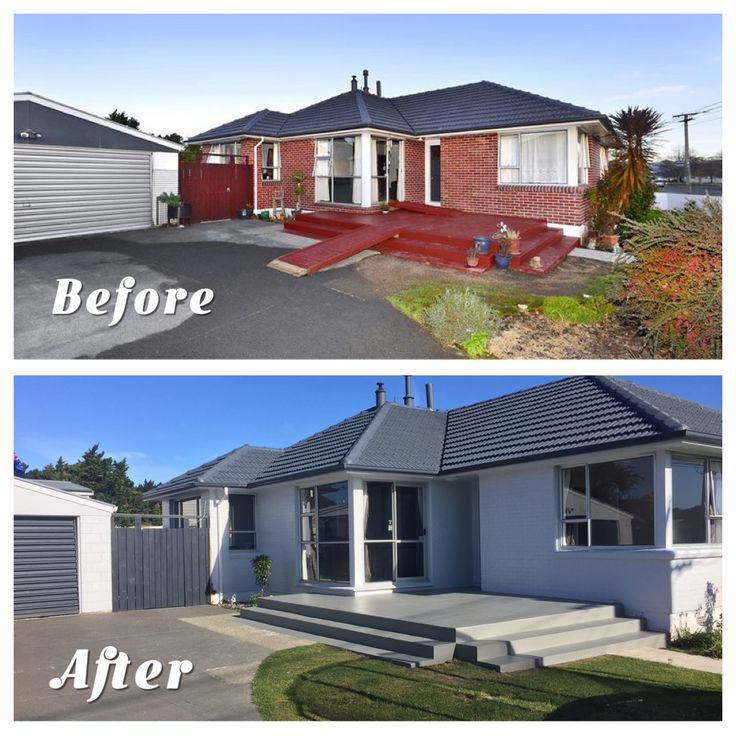 Before and after Exterior Repaint at My Home