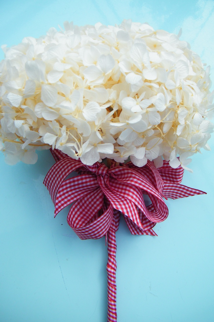 Wrap The Stem Of A Hydrangea Head With Ribbon To Make A Simple Bridesmaid  Posy Daisyshop