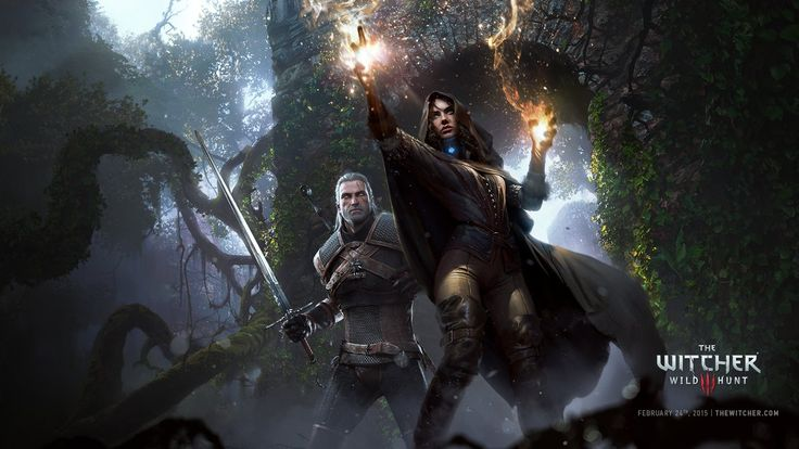 Yennefer with Gerald from the video game 'The Witcher 3'. Great to see a woman have her own engaging story AND wear appropriate fighting clothes! :)