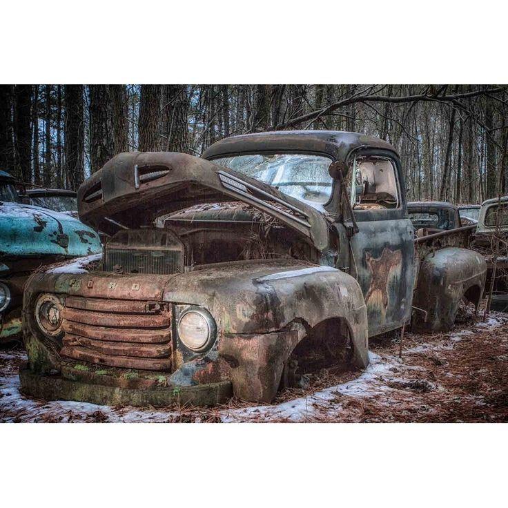"""1950s Ford Truck"" by Glenn Martin, Canvas Giclee Wall Art Print"
