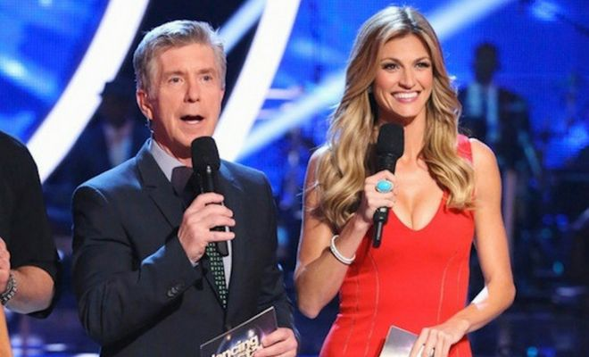 Dancing with the Stars hosts Tom Bergeron and Erin Andrews