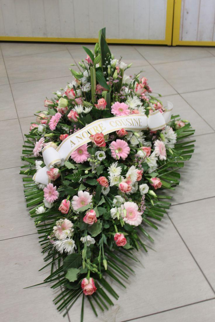 dessus de cercueil #deuil #fleurs