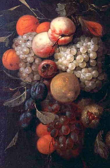 Cornelius de Heem (1631-1695) was a still-life painter associated with both Flemish Baroque and Dutch Golden Age painting.       - Fruit Swag -17th century