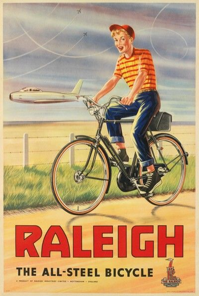 Raleigh Bicycle poster from Etsy.com
