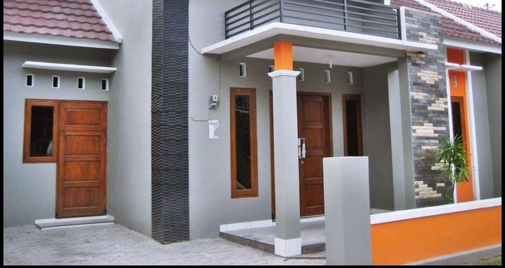 Cat Rumah Minimalis Abu Abu Putih - Denah Rumah
