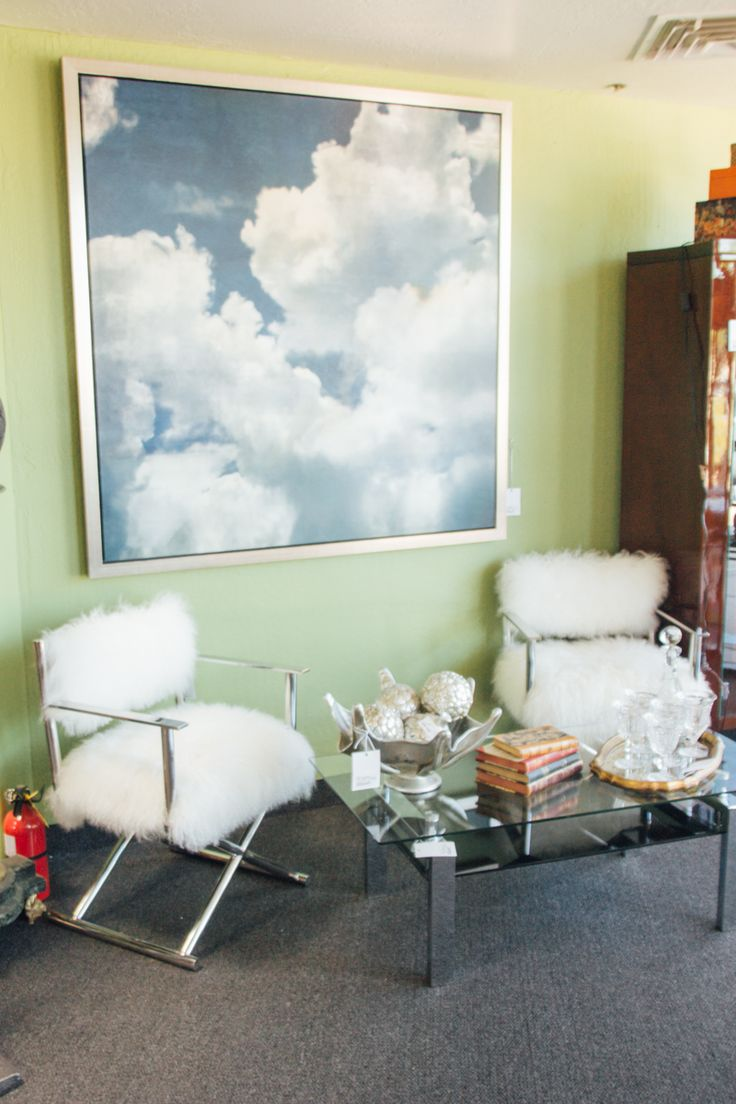 Fuzzy Chairs And Cloud Print Found At Avery Lane In Scottsdale Arizona.  Consignment FurnitureScottsdale ...