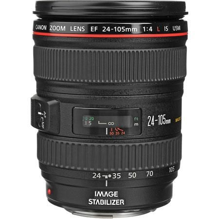 Canon EF 24-105mm f/4L IS USM AutoFocus Wide Angle Telephoto Zoom Lens