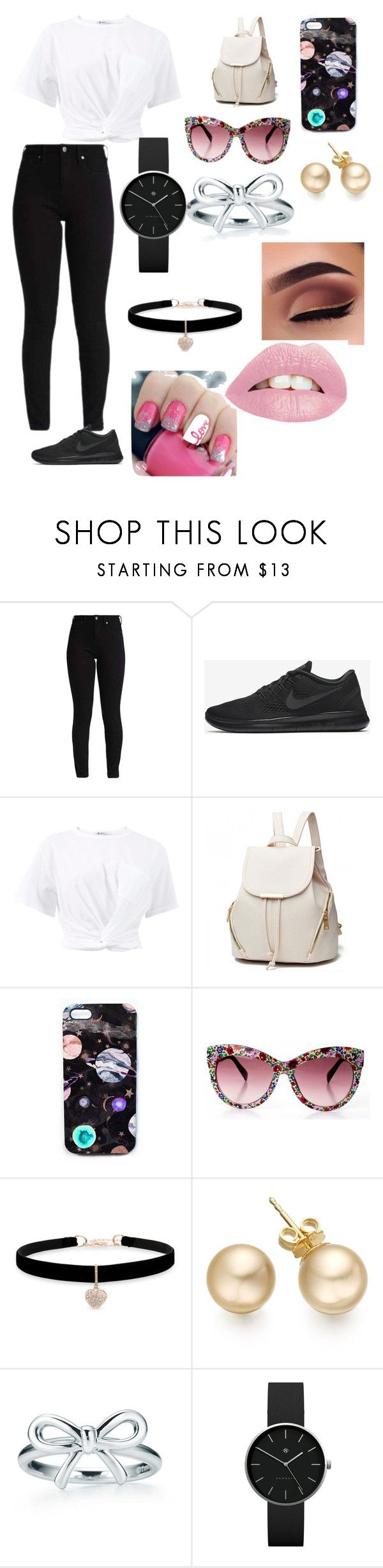 """Casual Date"" by lottie-farmer ❤ liked on Polyvore featuring NIKE, T By Alexander Wang, Nikki Strange, Betsey Johnson and Newgate"