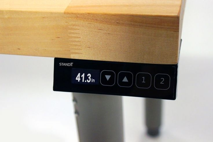 """The desk is obviously adjustable, with its range of 27"""" to 44.5"""" easily achieved with the touch of a button."""