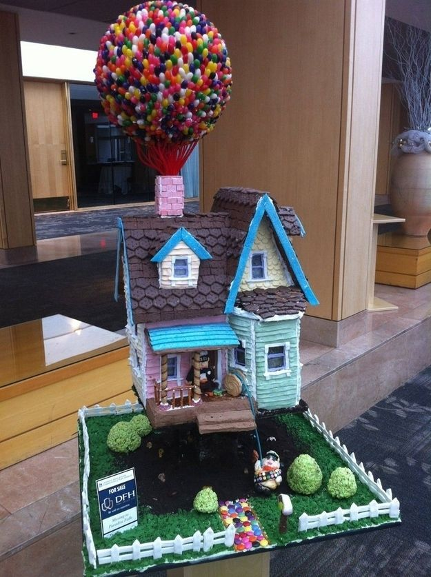 """This heartbreakingly cute """"Up"""" house.   20 Unbelievable Gingerbread Houses You'll Want To Live In"""