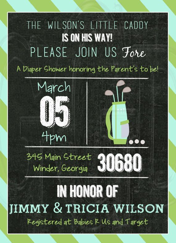Golf Baby Shower or Birthday Invitation  by graciegirldesigns77