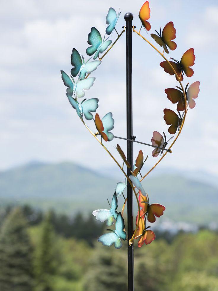 Wind Spinners: Butterfly Wind Spinner   Metal Wind Spinners