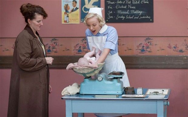 Call the Midwife: Helen George as midwife Trixie.