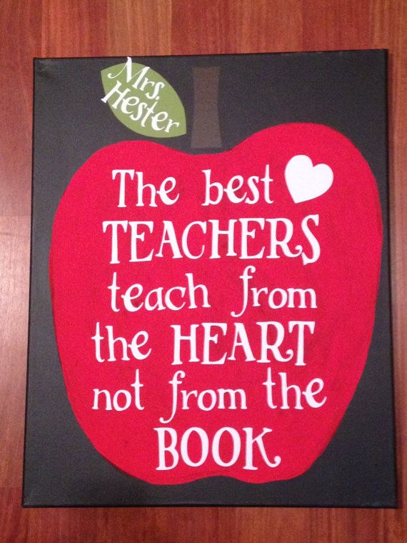 Canvas End of Year Teacher Gift by TwoCraftyTeachers on Etsy, $25.00