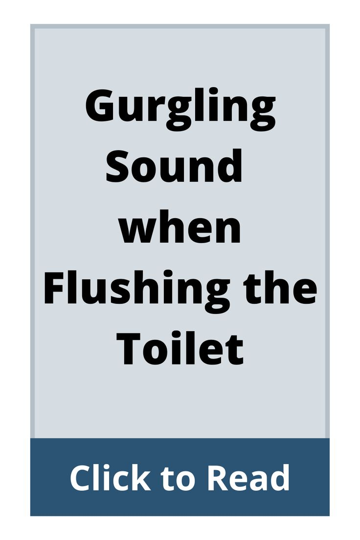 Gurgling sound when flushing the toilet in 2020 clogged