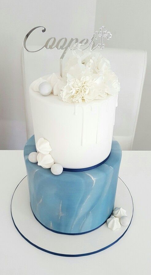 Christening cake by Dina's cupcakes and cakes