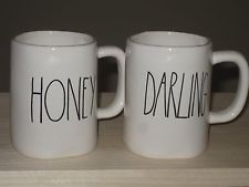 "anthropologie mugs on sale | Set 2 rae dunn magenta coffee mugs ""honey"" and ""darling"" ~ brand new ..."