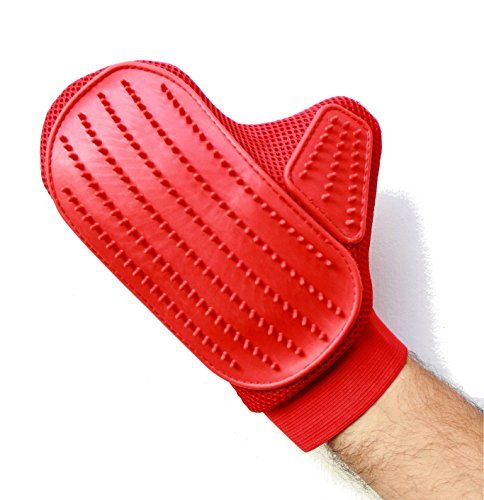 Pet Grooming Brush Glove - Perfect for Long