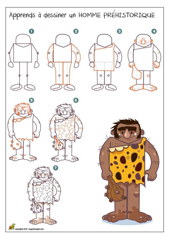 Dessiner un homme préhistorique