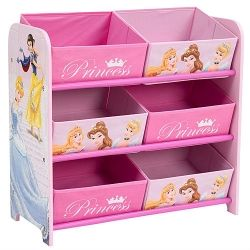 Disney Princess Opbergrek met lades  Het Opbergrek van Disney is een sfeervol kastje voorzien van zes gestoffeerde lades. Ideaal om kinderen te leren zelf hun prinsessen spulletjes op te ruimen. De lades bieden voldoende ruimte om bijvoorbeeld kleding of speelgoed in op te bergen.