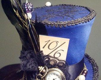 Alice in Wonderland Mini top hat Steampunk hat by LiverandMonk