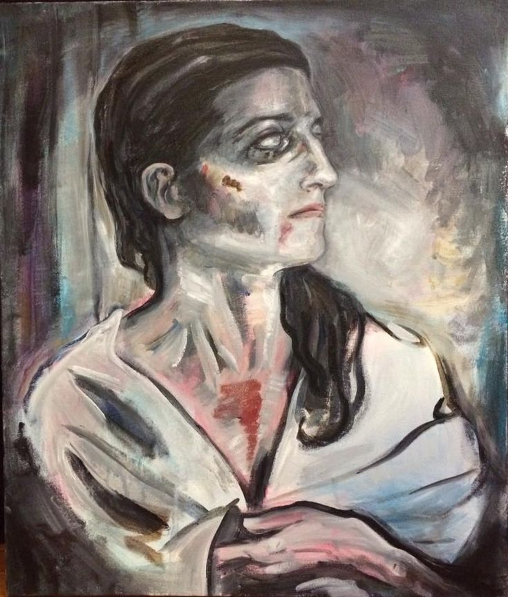 painting by artist Sherrie Miller titled Lady In White
