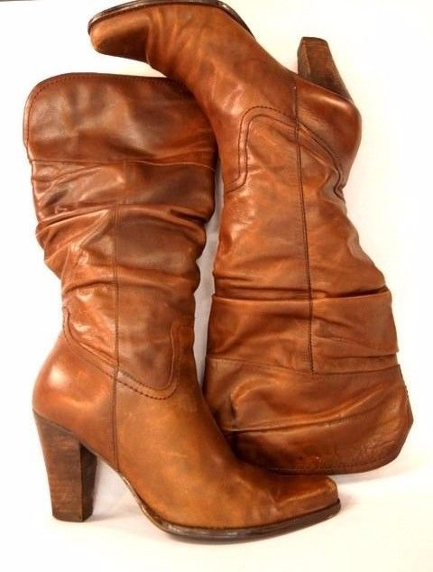 Women Sz 8 #VintageBoots #SlouchBoots #70sFashion #LeatherBoots #BrownBoots #80sStyle #WomensBoots