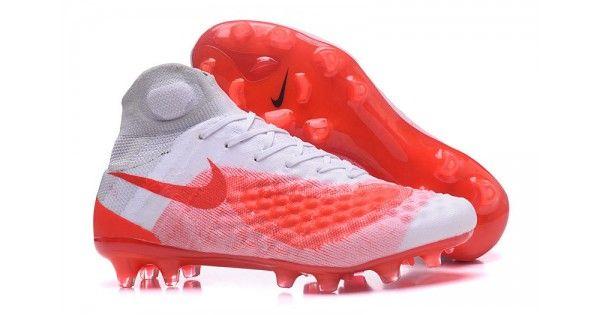 sale retailer aa817 f1c7c Comprar Botas De Futbol Nike Magista obra II FG Baratas Blancas Rojas