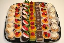 Mini dessert bar idea. i like that there's more fruit items to balance the sweets.