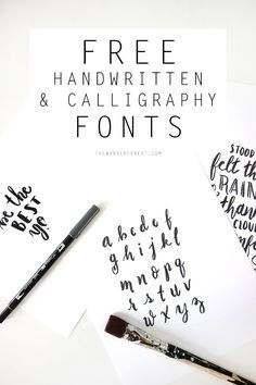 Free Handwritten / Calligraphy Fonts   Wonder Forest: Design Your Life.