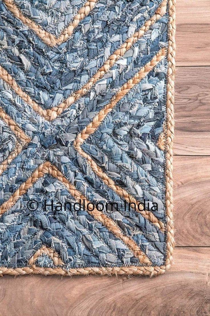 4x6 braided denim rugs runner living room solid area