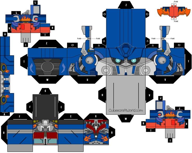Optimus Prime Paper Craft Optimus Prime Paper Toys
