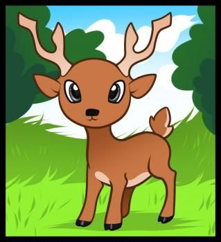how to draw animals step by step for kids - deer