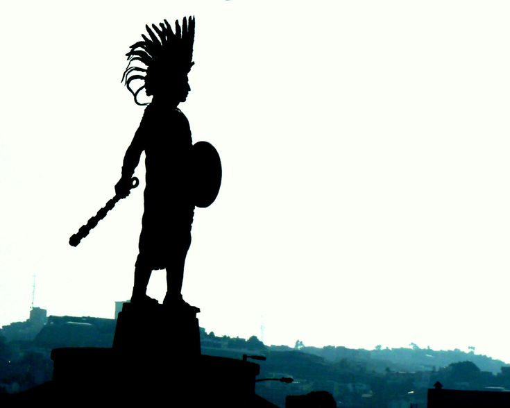 Imposing monument in Tijuana to the last Aztec emperor, Cuauhtemoc, 2012. (By Raul Vasquez)