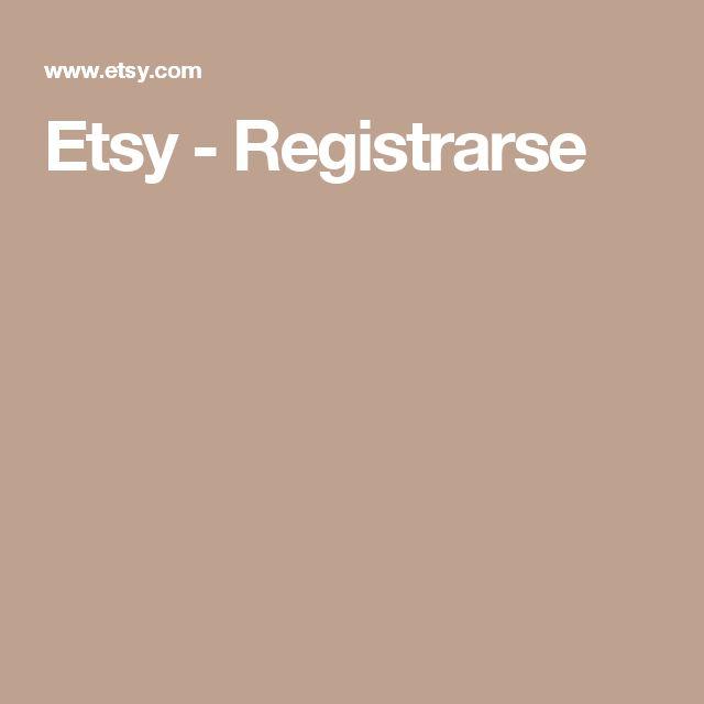 Etsy - Registrarse