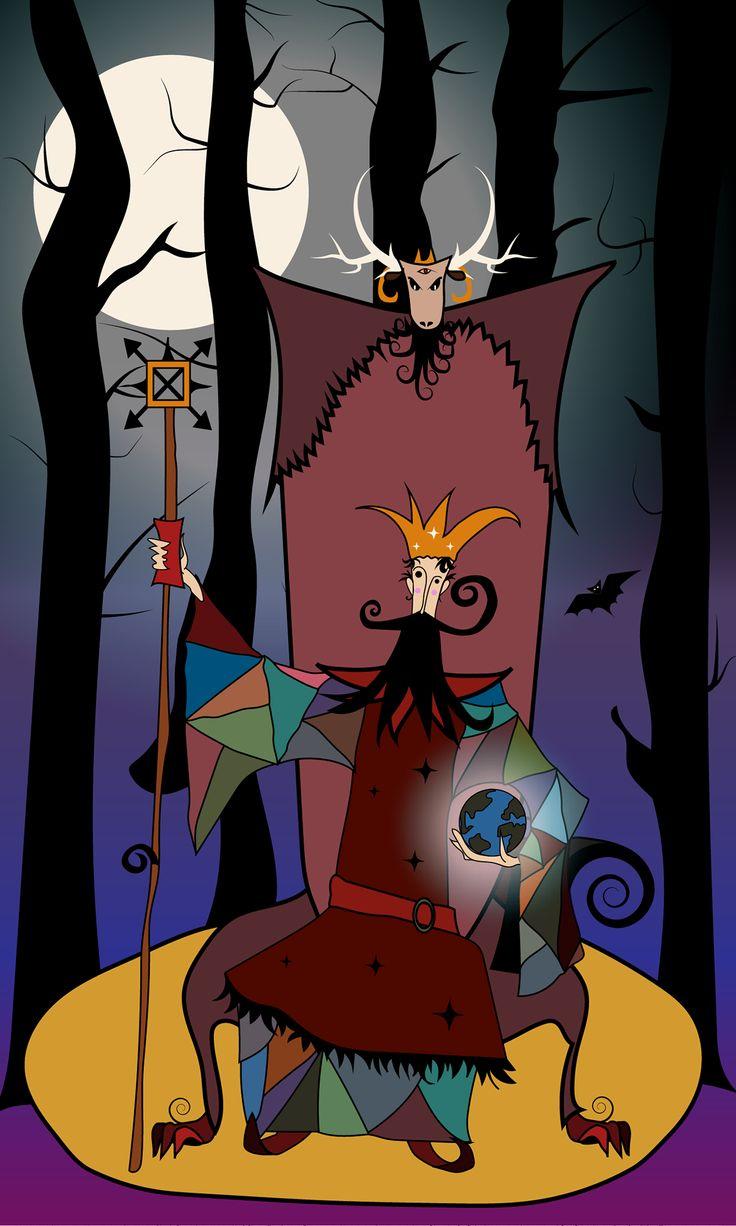 Dark King holding the world
