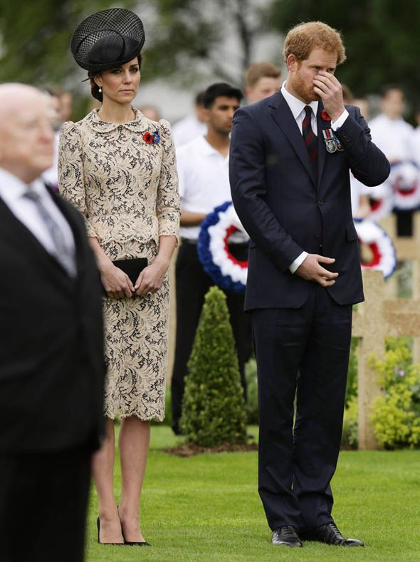 Kate Middleton and Prince Harry at the Somme Photo (C) GETTY IMAGES