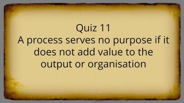 ISO 9001:2015 Consulting, Training and Auditing - True/False Quiz # 2