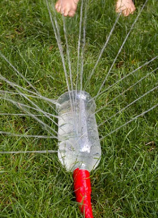 Entertain the kids for hours with this homemade sprinkler.