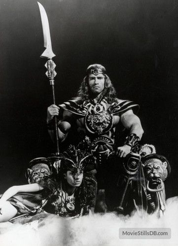 Conan The Barbarian promo shot of Arnold Schwarzenegger